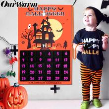 OurWarm Halloween Decoration Countdown Calendar Hanging Ornaments For Home Office Wall Decor Sig 60x90cm