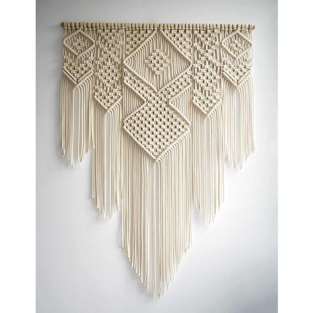 Bohemian Wall Tapestry Farmhouse Home Decor Nordic Macrame Wall Hanging Tapestry Flower Of Life Creative Knitting Wall Blanket