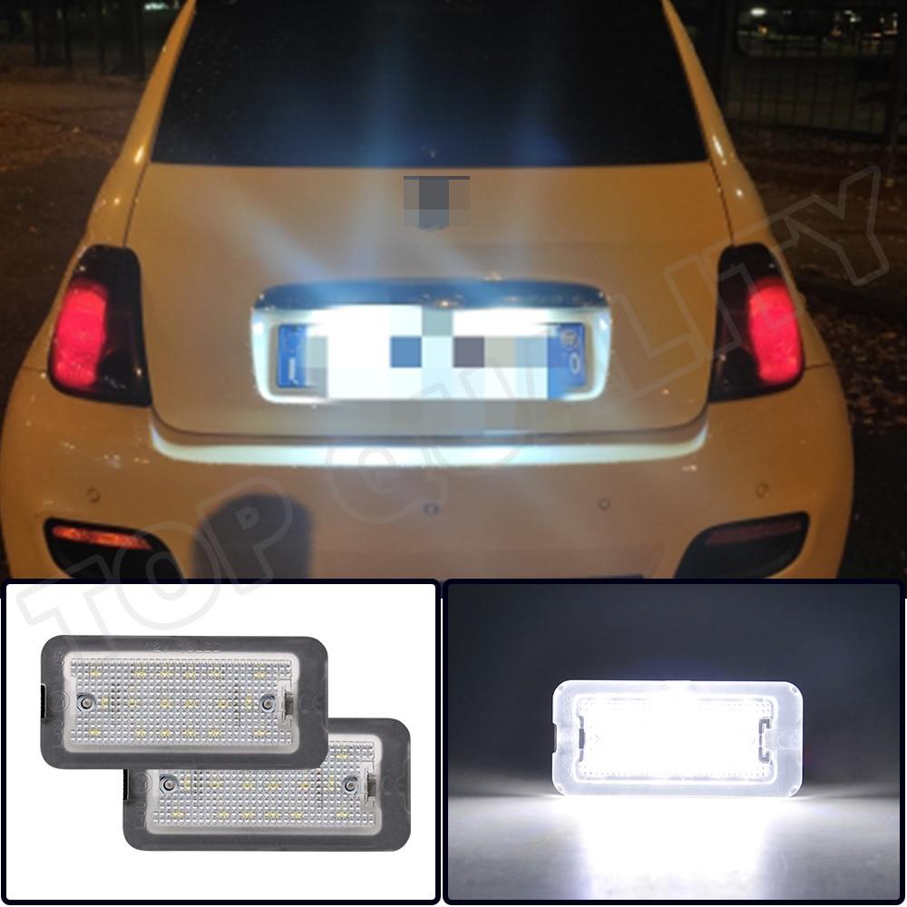 Fiat Abarth 500 2007 2008 2009 2010 2011 2012 2013 2014 2015 2016 2017 2018 hata ücretsiz Canbus LED numarası plaka işık