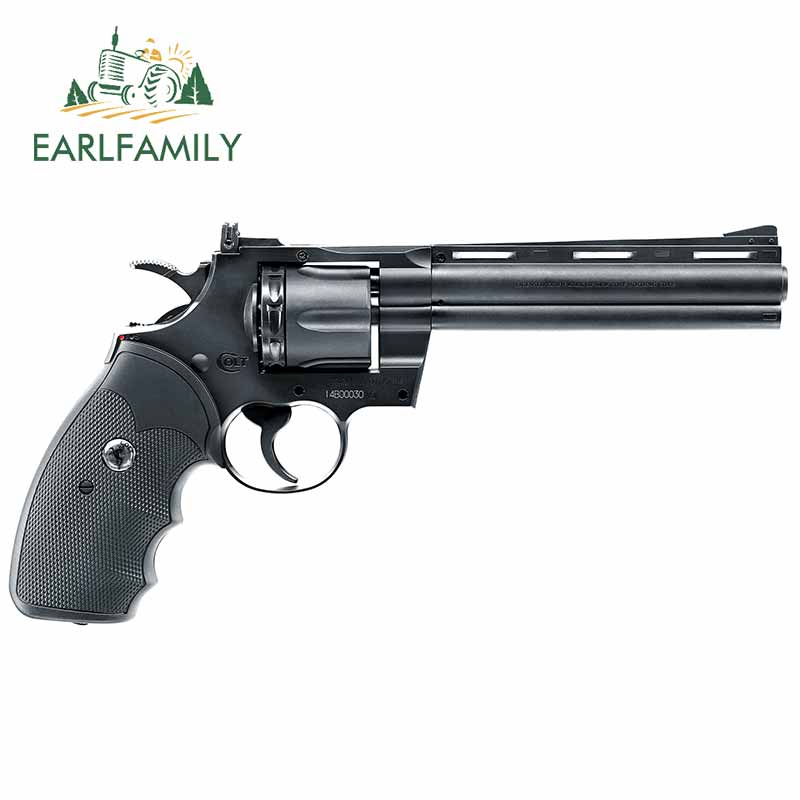 EARLFAMILY 13cm x 6.8cm for Colt Python Paintball Vinyl Car Wrap Car Stickers and Decals Waterproof Car Styling Graffiti Sticker