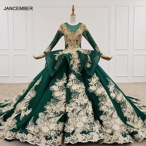 Image 1 - HTL1173 ערב שמלות ארוך אפליקציות ואגלי נצנצים דפוס ציצית תחרה עד פורמליות שמלת נשים אלגנטית vestidos דה finalistas