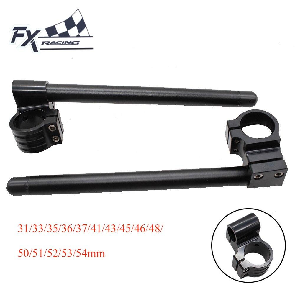 Black Motorcycle Rised Clip On Ones Riser Clipon Handlebar Fork Handle Bar 31/33/35/36/37/41/43/45/46/48/50/51/52/53/54mm
