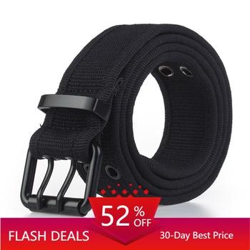 10 Colors Army Belt Combat Waist Belt Black For Jeans Elastic Nylon Tactical Belt Metal Buckle Canvas Belts Brand Men Belt Gift