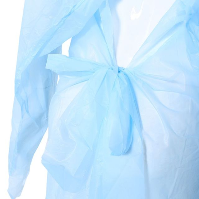 Unisex Disposable Waterproof Gown Anti-contact Clothes Raincoat Rainproof PPE protective suit Anti-Viruses Protective Suit 4