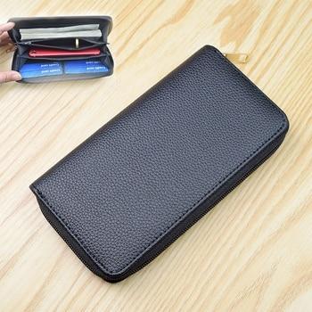Men's Wallet Clutch Bag Billeteras Para Hombre Mens Wallet Man Purse Leather Genuine Luxury Carteira Masculina Couro 8