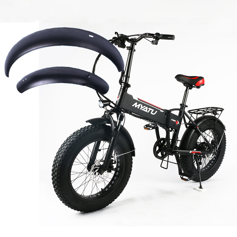 20inch Snowboard Electric Bicycle Mudguard E-bike Wing 20x4.0 Fat Tire Folding Bike Fender Iron Sturdy Durable Mud Guard Suit
