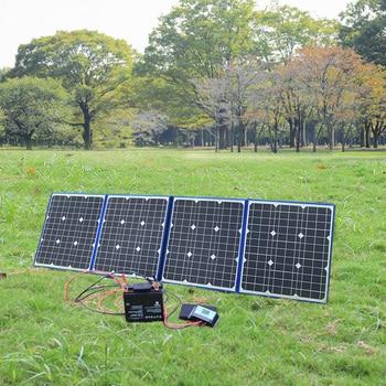 flexible solar panel foldable 200w 18v 12v charger home kit portable outdoor 5v usb for phone RV car battery camping travel 5