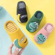 Детская Хлопковая обувь; детские домашние тапочки для мальчиков и девочек; Милая теплая обувь с рисунком; утепленные детские тапочки для мальчиков и девочек
