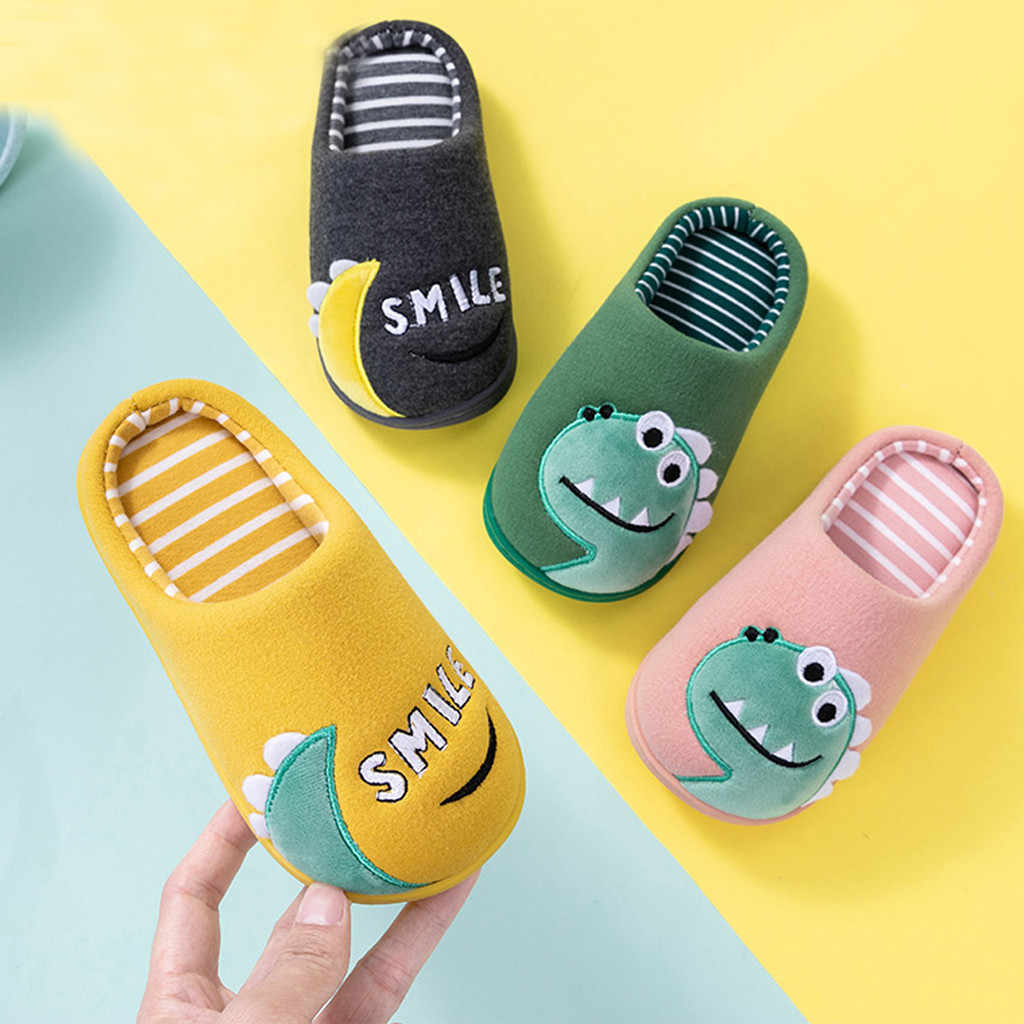 Children Cotton Shoes Kids Home Slippers Boys And Girls Baby Cute Cartoon Warm Shoes Boys Girls Thickening Children Slippers