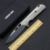 LiBing MECHANIC TEACHER 2 No Screw Flipper Folding Knife M390 blade Titanium Handle Outdoor Camping Hunting Pocket EDC Tools