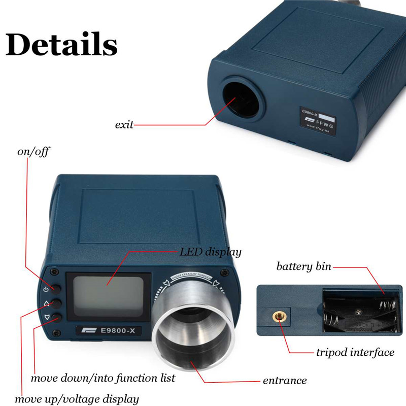 Image 5 - E9800 X Shooting Speed Tester High Precision Shooting Chronograph  10C to 50C 0 500J Firing Kinetic Energy LCD Screen-in Speed Measuring Instruments from Tools