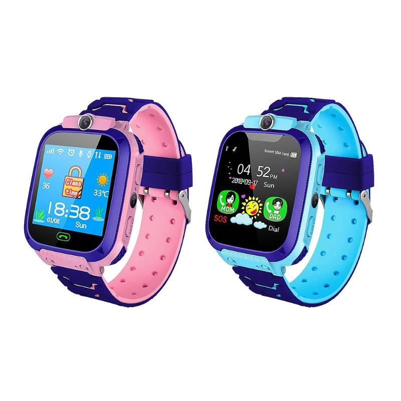 1.44 Inch Waterproof Smart Watch Voice Chat LBS Kid Watch Digital Smartwatch For IOS Android Toys For Children New Year Gift