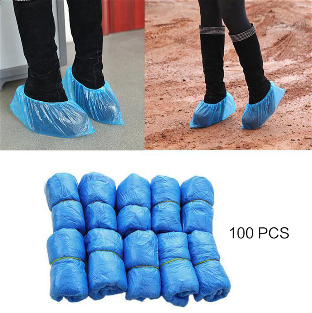 100pcs Shoes Cover Raining Boot Disposable Outdoor Shoe Covers Waterproof 34*14 Cm (50 Pairs)