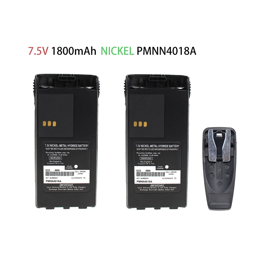 2X RB MOT PMNN4018A 1600mAh Ni-MH Two-Way Radio Battery For Motorola GP-308/88S, PRO3150, P-040/080,GT-2050, CP250/450, CP450LS