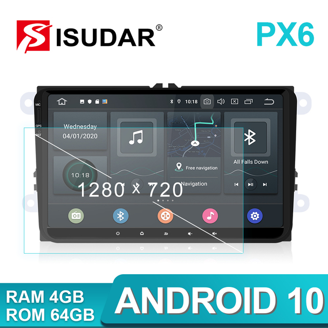 Isudar 1 Din Auto Radio Android 10 Per VW/Golf/POLO/Passat/Skoda/Fabia/octavia/Seat/Leon Auto Multimedia Video Player GPS USB DVR