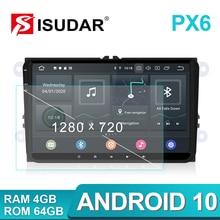 Isudar 1 Din Radio samochodowe Android 10 dla VW/Golf/POLO/Passat/Skoda/Fabia/Octavia/Seat/Leon samochodowy multimedialny odtwarzacz wideo GPS USB DVR