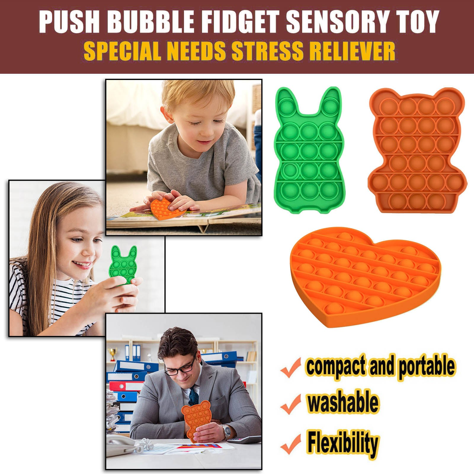 Push Bubble Board Game Toy Autism Special Needs Stress Reliever 3pcs Toy Set Fidget Toys Anime Baby Toys Diy One Piece Toys Refreshing And Enriching The Saliva