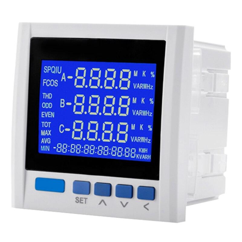 Medidor de Energia Acumulação de Energia Tabela de Rede Novo Trifásico Multifunction Digital Volt Amp Rs-485 Yg889e-9sy Lcd