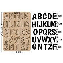 ตัวอักษรใหม่ A Z ไม้ Die Scrapbooking C 2290 ตัดตายหลายขนาด