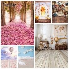 Yeele Photophone 아기 초상화 장면 레트로 나무 사진 배경 사진 스튜디오 사진 세션을위한 사진 배경