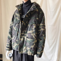 Winter Camo Jacket Men's Warmth Thickening Fashion Parka Men Military Style Casual Hooded Coat Sman Wild Loose Cotton Jacket