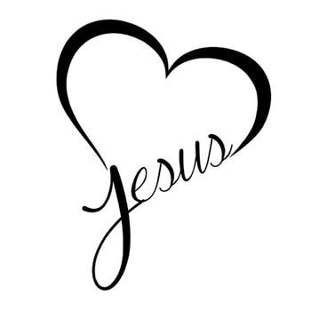 JESUS HEART Vinyl Decal Sticker 2