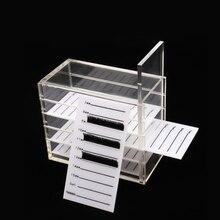 False Eyelash Extension Storage Box 5 Layers Acrylic Lash Pallet Individual Eyelash Extension Display Pad Crystal Organizer