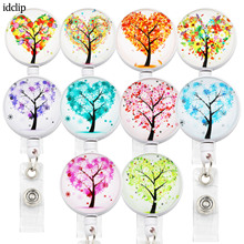 idclip Colors Tree ID Retractable Badge Holder with 360 Alligator Clip Life  Cord