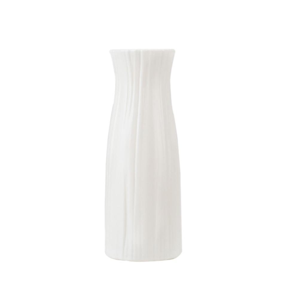 Скандинавском стиле Цветочная корзина ваза для цветов и рисунком в виде птичек-оригами Пластик ваза мини бутылка имитация Керамика украшение цветочный горшок для дома - Цвет: RL1265C