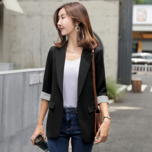 Large Size Korean Ladies Blazer Stylish Black Loose Casual Suit Jacket Bayan Mont Vintage Office Spring Women's Clothing MM60NXZ