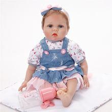 55 см всего тела силиконовые rebirth детка мода моделирование