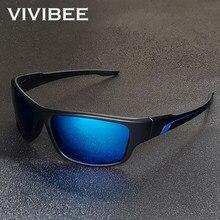 Vivibee polarizado espelho azul esporte ao ar livre óculos de sol para homens correndo 2020 uv400 clássico condução masculino óculos de pesca