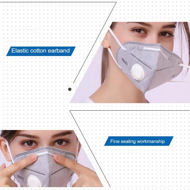 5PCS 6-Layer Disposable Non-woven Masks Antiviral Outdoors Sport Face Masks Anti-fog Anti-particles PM 2.5 Mask For Adult 4