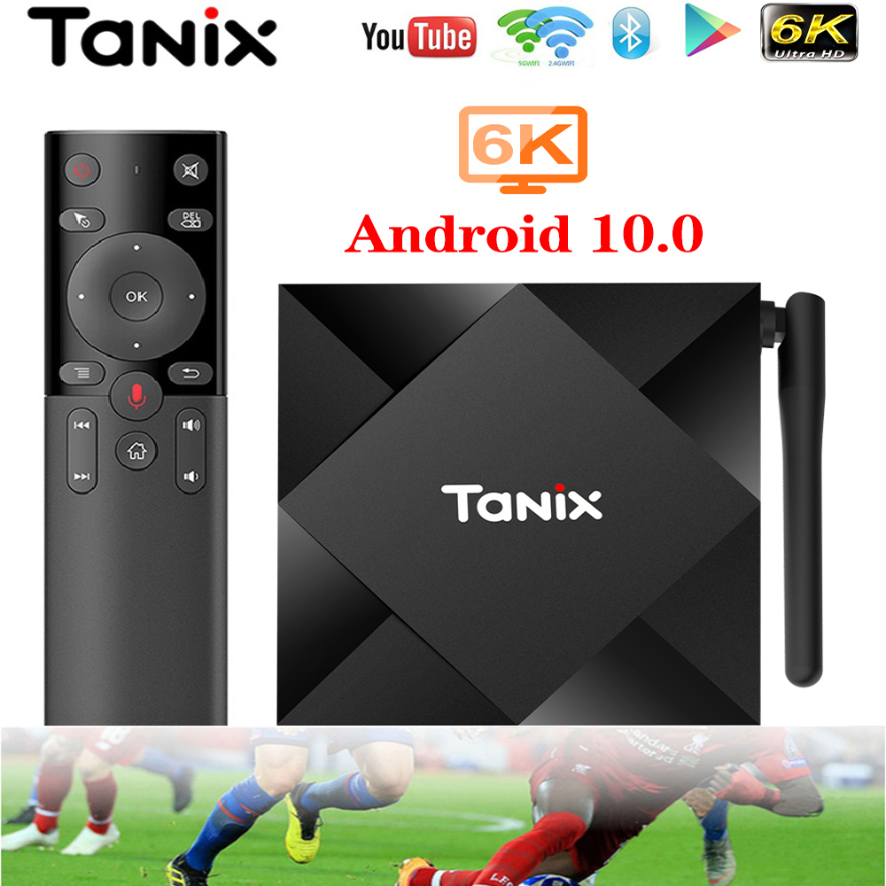 Tanix TX6S 6K Android 10.0 Smart TV Box Allwinner H616 4GB 32GB/64GB 2.4G 5G Wifi 6K TX6 VS TX3mini tv box only No app included