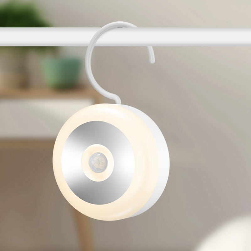 Led Induction Night Light Lamp Smart Control Smart Human Body Sensor for Bedroom Stairs Toilet 3 Pcs