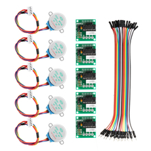 5Pcs 5V Stepper Motor With ULN2003 Driver Board Dupont Cable For Arduino Reduction Step Motor Gear Stepper Motor 4 Phase