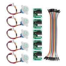 Motor paso a paso de 5 uds. Con Cable Dupont ULN2003 para reducción de Arduino, Motor paso a paso, Motor paso a paso, 4 fases