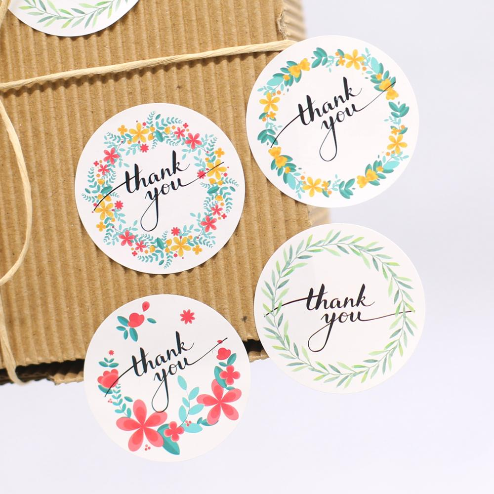 120* Thank You Sticker Labels Seals Craft Card Package  Favours Envelope Chic