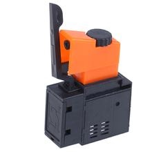 1 sztuk AC 220V 6A FA2 61BEK regulowana prędkość przełącznik z tworzywa sztucznego metalu do przełączników spustowych wiertarki elektrycznej tanie tanio CN (pochodzenie) Other Trigger Switch Speed Switch Przełącznik Wciskany