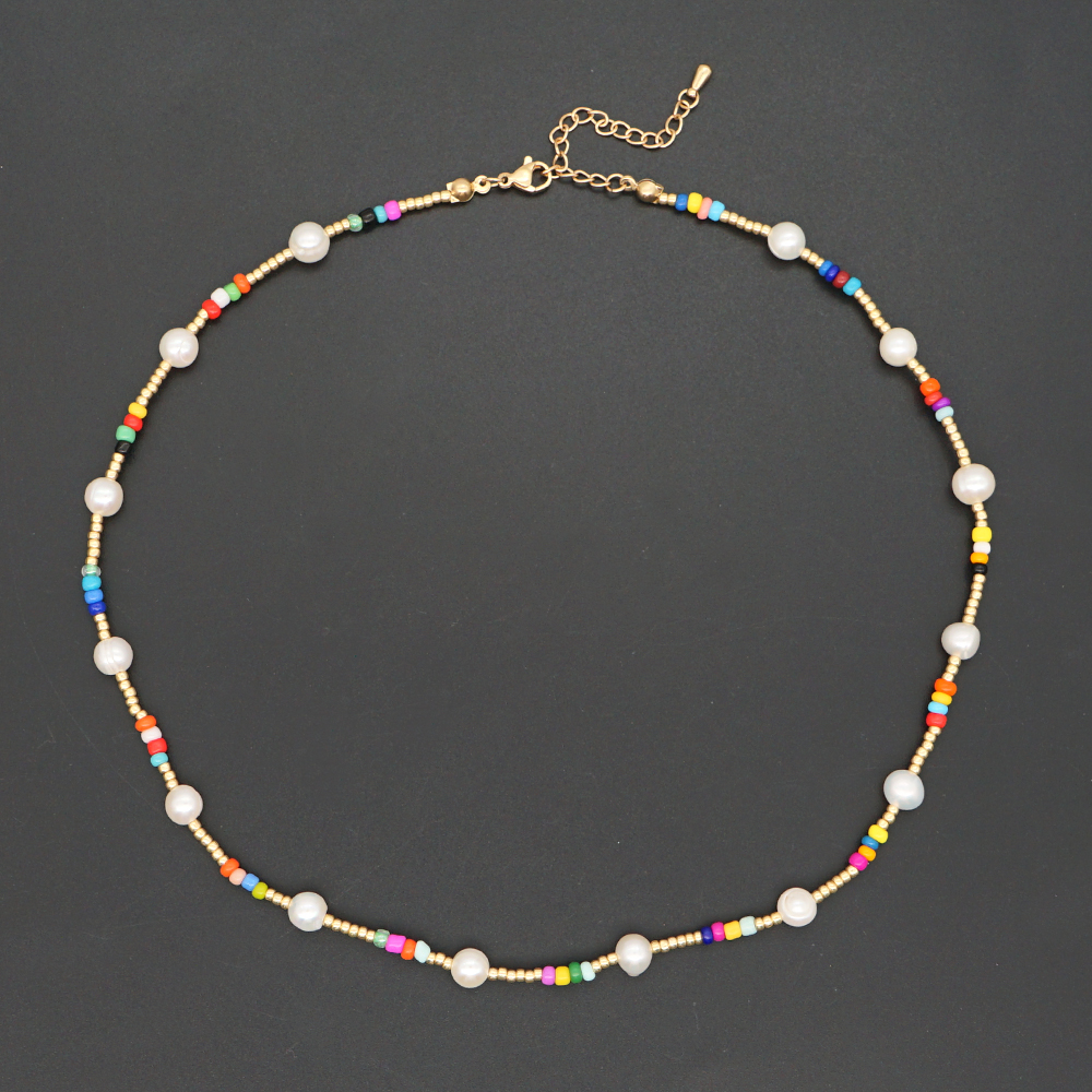 Go2Boho Real Pearl Necklaces Beaded Choker Summer Beach Necklace For Women Jewelry 2021 Fashion Beads Collier Female Accesorios