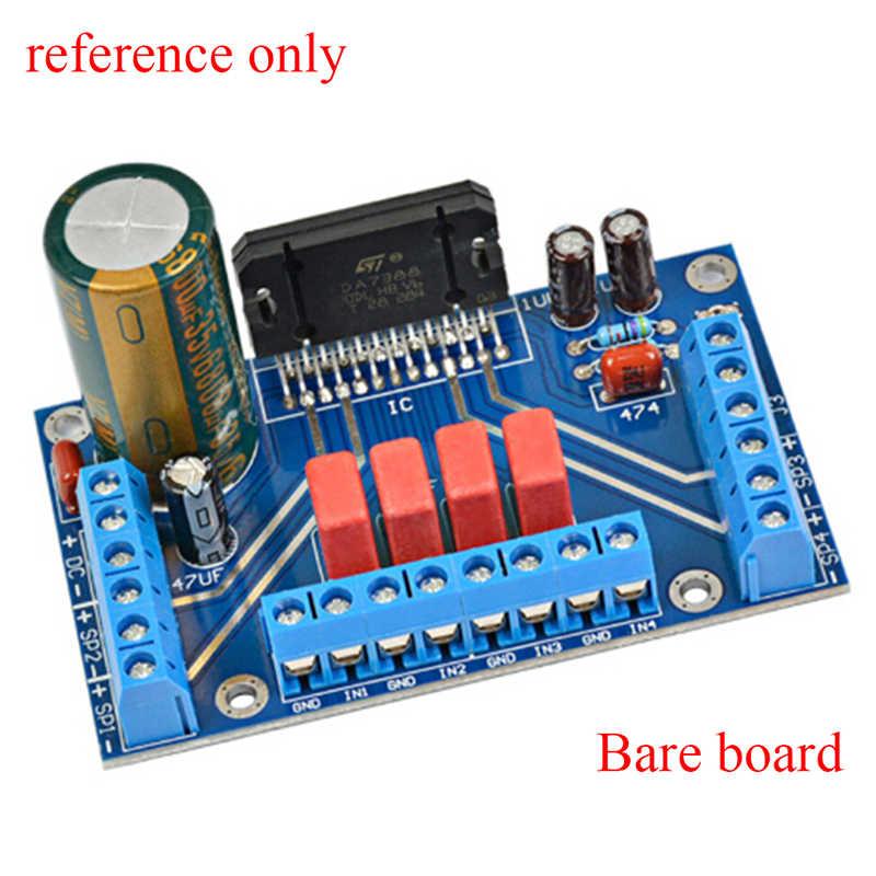 Power Amplifiers TDA7388 Four Channel 4x41W Audio DC 12V BTL PC Car AMP PCB PCB empty board part compatible 7850 Electronic part