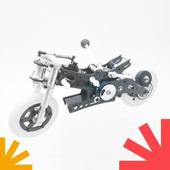 ma ar chassis modify parts set carbon fiber plates rollers mass damper for tamiya mini 4wd racing car model 2017 version 1/8 Carbon Fiber Racing Motorcycle FIJON FJ918 Tamiya Mini 4wd