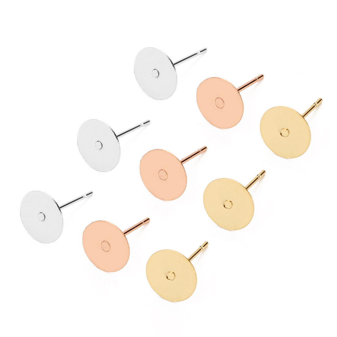 1 упаковка, серьги-гвоздики из хирургической нержавеющей стали 316L с 3 мм, 4 мм, 5 мм, 6 мм, 8 мм