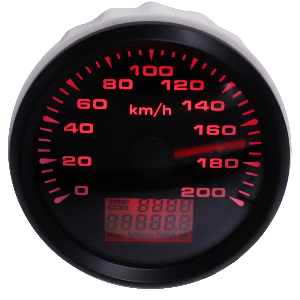 85mm GPS Speedometers 0-200km h Waterproof GPS Speed Odometer Gauges Trip Meters for Car Truck Motorcycle 9-32V 8 color light