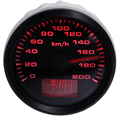 85mm GPS Velocímetros 0-200 kmh Velocidade GPS Odômetro Calibres Metros de Viagem À Prova D' Água para o Caminhão Do Carro Da Motocicleta 9 -32V 8 cor luz