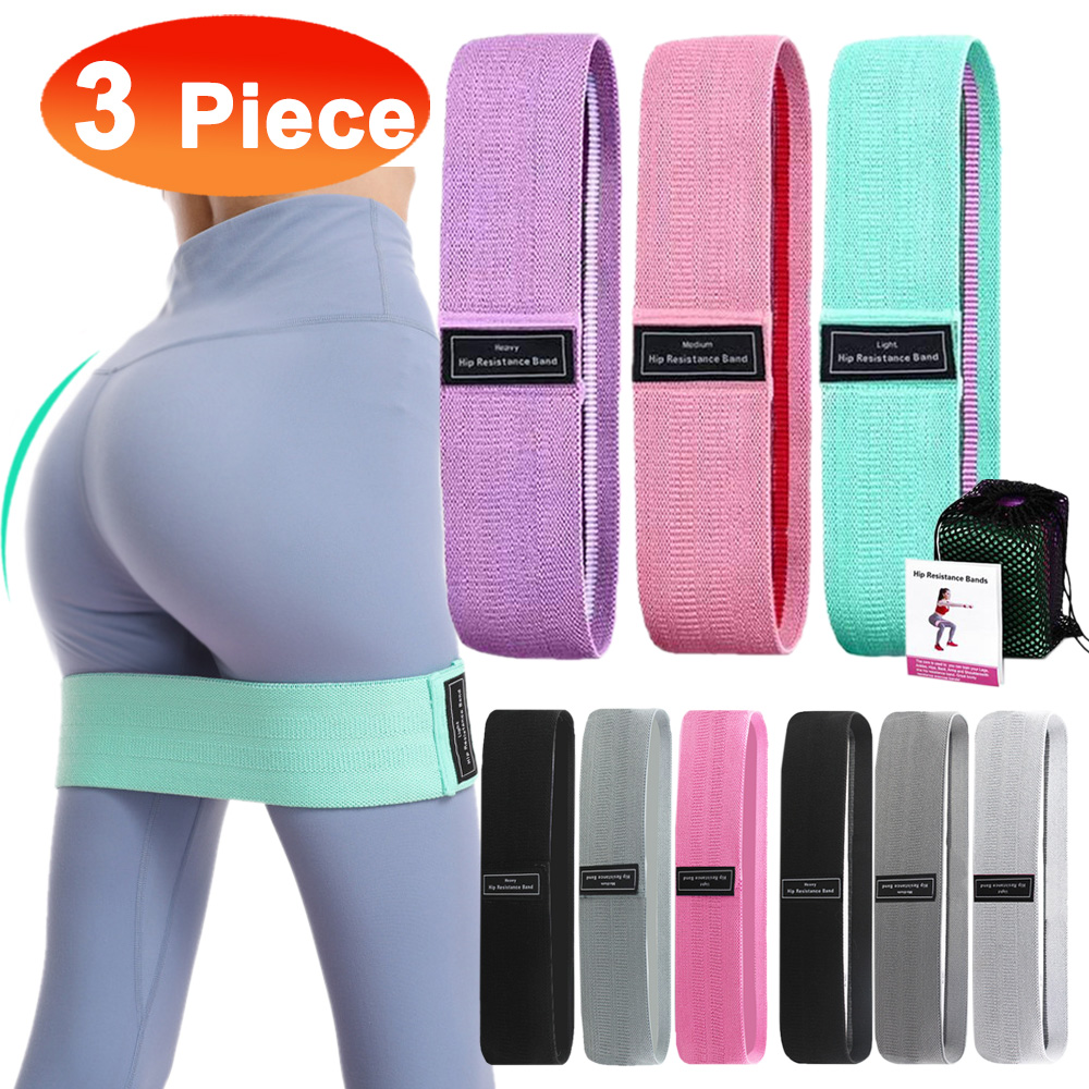 3 Teile/los Fitness Gummiband Elastische Yoga Widerstand Bands Set Hüfte Kreis Expander Bands Gym Fitness Booty Band Hause Workout
