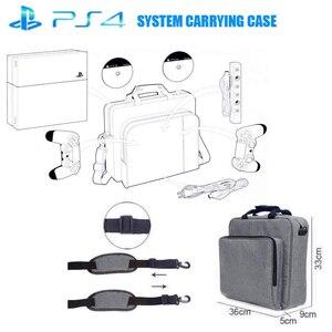 Image 2 - NEW Handbag for PS4/PS4 PRO slim Original size Protect Shoulder Carry Canvas Case for PlayStation 4 Consol Multifunction Bag