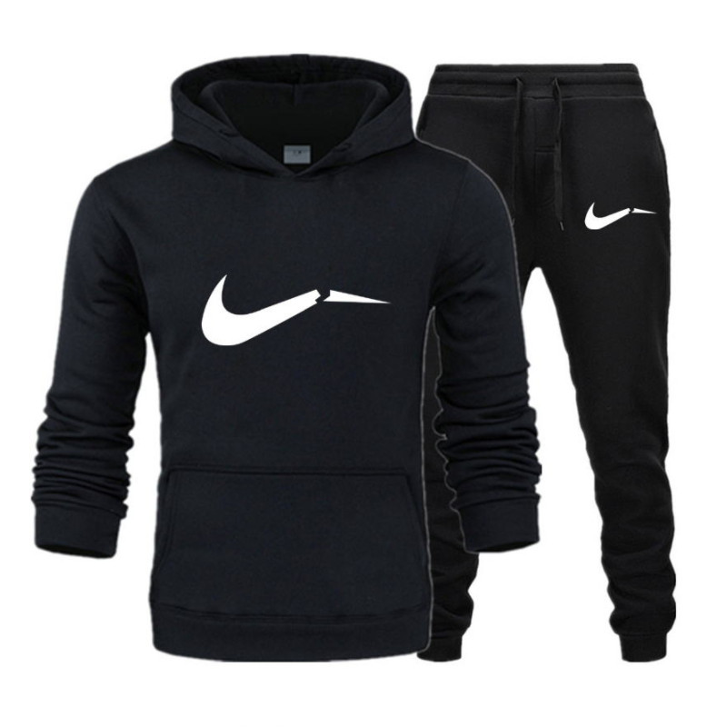 New 2019 Two Pieces Set Fashion Hooded Sweatshirts Sportswear Men Tracksuit Hoodie Autumn Men Brand Clothes Hoodies+Pants Sets