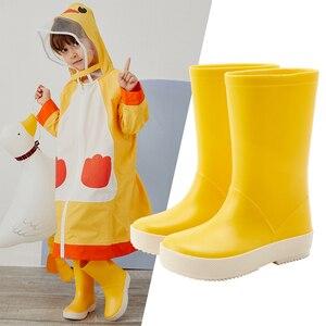 Image 2 - DRIPDROP Toddler Kids Rain Boots Girls Boys Classic School Boots Rainсoat Rain Rainwear Toddler Raincoat