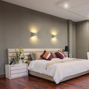 Image 4 - Modern Plaster Wall Light Handmade Gypsum Lamp 110V 220V Wall Mounted LED Sconce Living room Bedroom Luminaire Indoor Wall Lamps